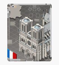 Isometric Infographic Notre Dame de Paris iPad Case/Skin