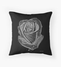 Silver Rose Floor Pillow