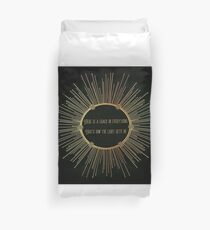 Leonard Cohen Anthem Lyrics There Is A Crack In Everything Duvet Cover