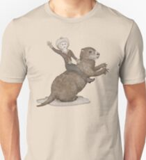 Riding Towards Groundhog Day Unisex T-Shirt