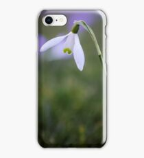 A single snowdrop iPhone Case/Skin
