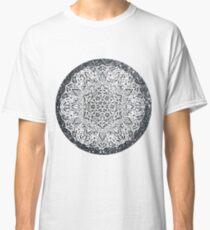 Silver Glitter Moon Mandala Classic T-Shirt