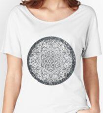 Silver Glitter Moon Mandala Women's Relaxed Fit T-Shirt