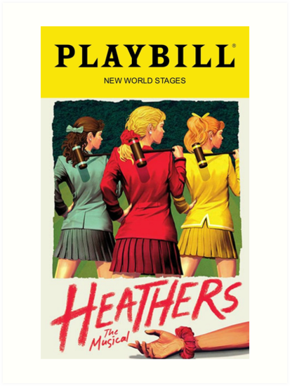 """""""Heathers Playbill"""" Art Prints by Playbills from Broadway ..."""