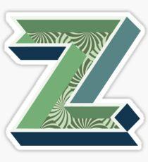 Letter Z - Decorative Alphabet Lettering 3D Sticker