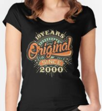 18 Years Original since 2000 - Birthday gift 18th Women's Fitted Scoop T-Shirt