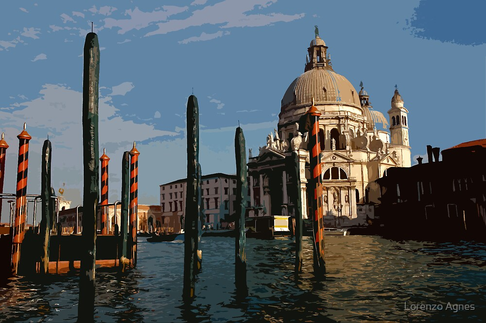 View on the Grand Canal, Venice (Graphic) by zodezine