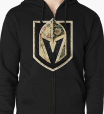 FLORALS - Golden Knights Zipped Hoodie