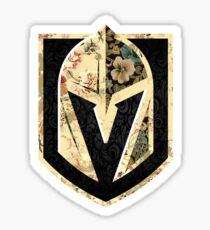 FLORALS - Golden Knights Sticker