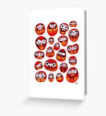 Japanese Daruma Characters Greeting Card