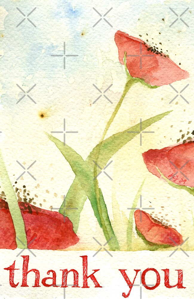 thank you Poppies 2 by Kelly Jacobi