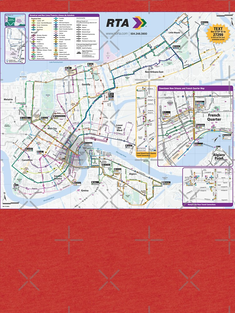 New Orleans Public Transport Map - United States