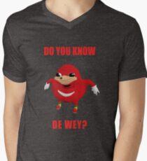 "Ugandan Knuckles ""Do You Know The Way?"" Shirt Men's V-Neck T-Shirt"