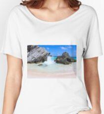 Bermuda, Pink Sand Beaches, Blue Ocean Relaxed Fit T-Shirt