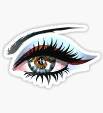 Blue Eye with Makeup Sticker