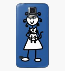 The girl with the curly hair - mid blue Case/Skin for Samsung Galaxy