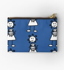 The girl with the curly hair - mid blue Studio Pouch