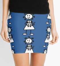 The girl with the curly hair - mid blue Mini Skirt