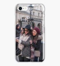 Tourists take selfies in Horseguards London iPhone Case/Skin