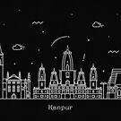 Kanpur Skyline Minimal Line Art Poster by A Deniz Akerman