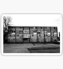 Derelict Architecture Black And White Urban Sticker