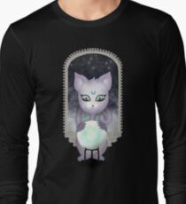 Mystic Miku | Crystal Ball & Zodiac | Black Long Sleeve T-Shirt