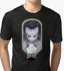 Mystic Miku | Crystal Ball & Zodiac | Black Tri-blend T-Shirt