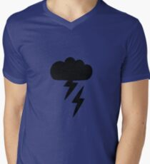 Simple children's doodle pattern with clouds Men's V-Neck T-Shirt