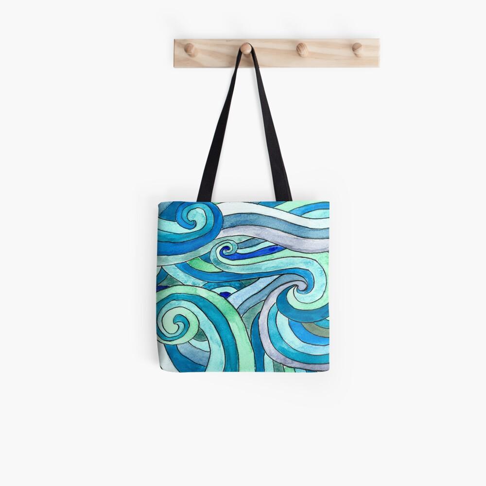 Watercolour waves Bolsa de tela