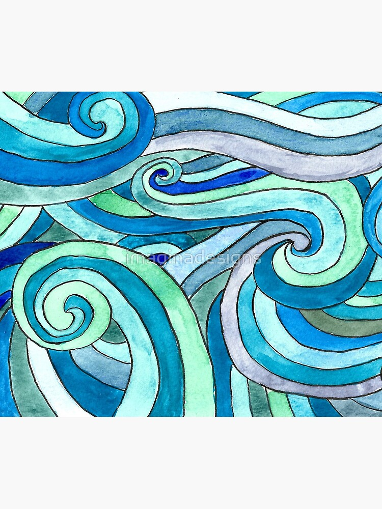 Watercolour waves de imaginadesigns