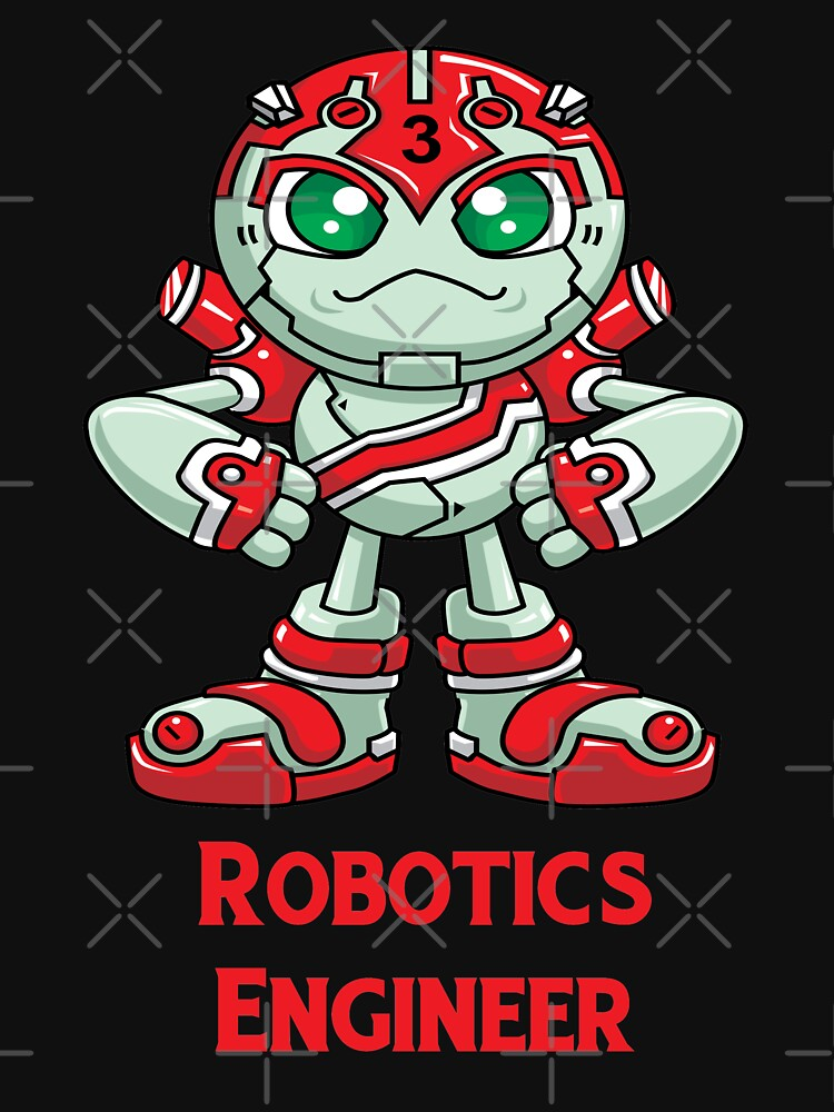 Robotics Engineer Robobot Off To Mars Three Unisex T Shirt By