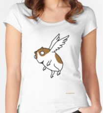 Flying Guinea Pig Women's Fitted Scoop T-Shirt