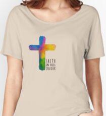 Faith in Full Colour - black Women's Relaxed Fit T-Shirt