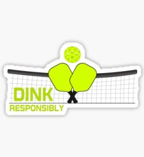 Dink Responsibly Pickleball Crossed Paddles T-Shirt Sticker