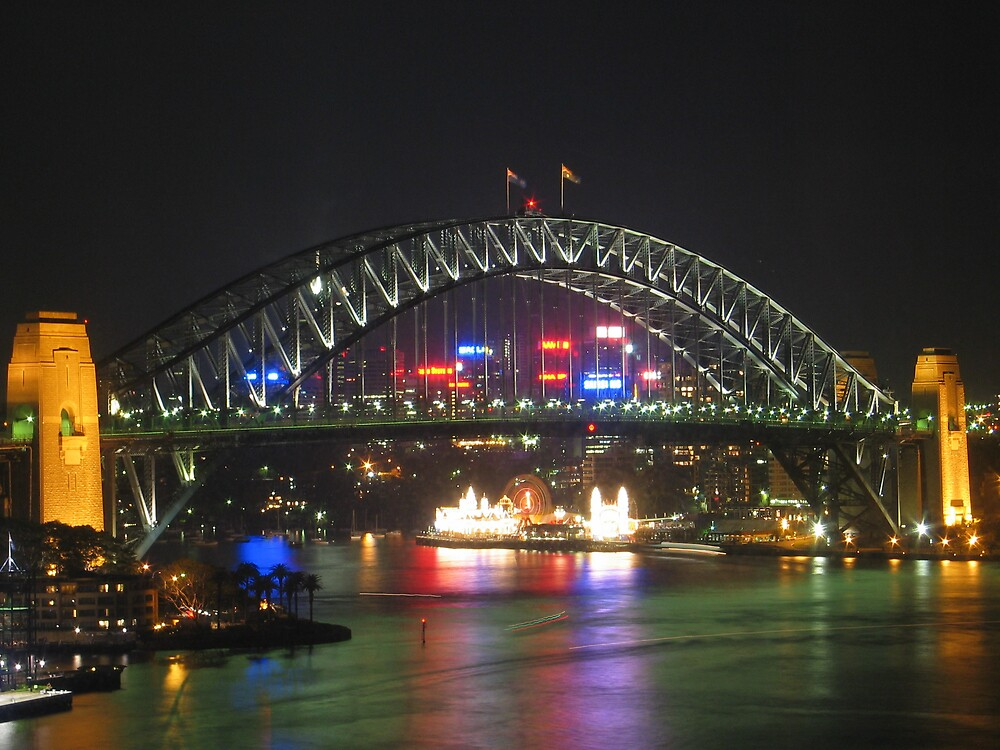 Sydney harbour bridge by Troy Mackaway