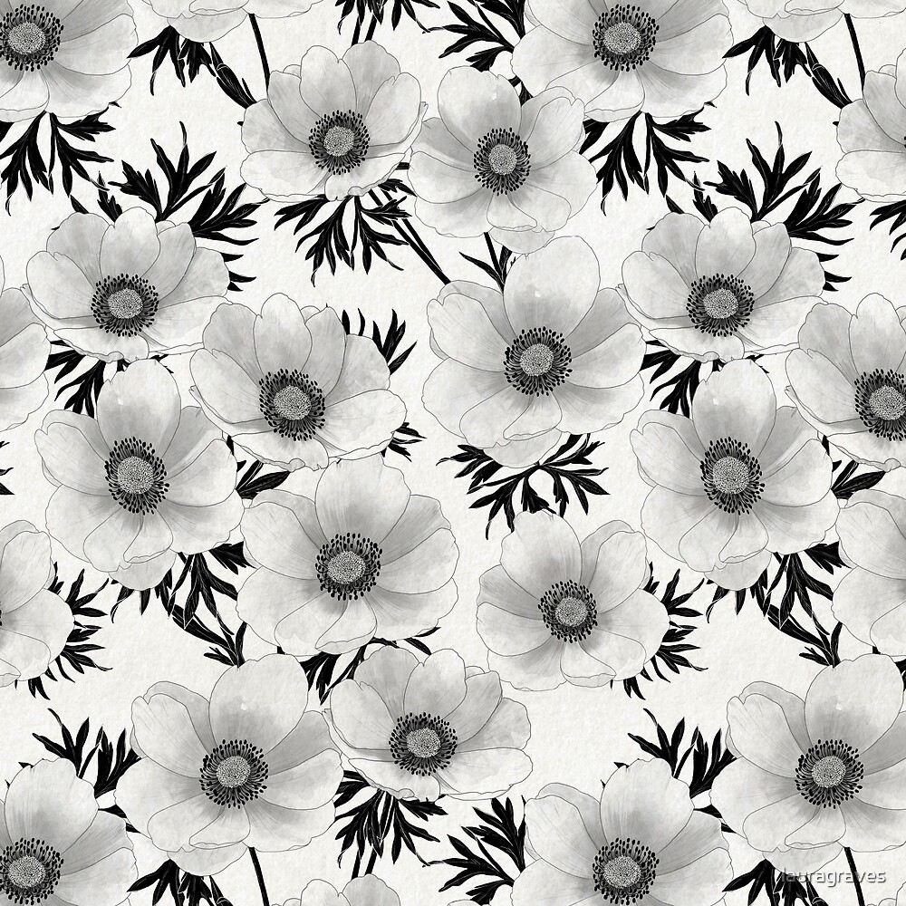 renewal // black and white floral by lauragraves