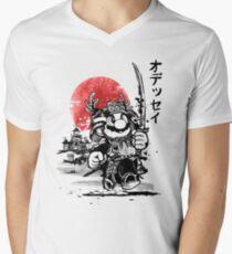 Samurai mario odyssey V-Neck T-Shirt