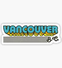 Vancouver, BC | Retro Stripes Sticker