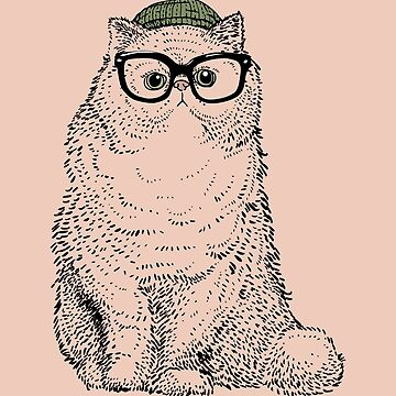 Hipster Persian Cat de Huebucket