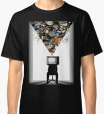 TV Head Minimalism Design Classic T-Shirt