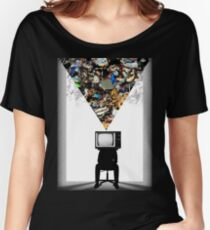 TV Head Minimalism Design Women's Relaxed Fit T-Shirt