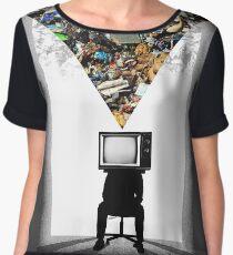TV Head Minimalism Design Chiffon Top