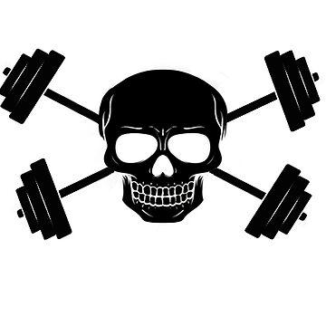 Skull & Crossed Barbells - Jolly Roger by PrecisionFit
