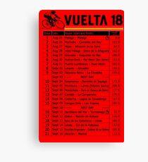 Vuelta a Espana 2018 Canvas Print