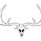 Dark skul whis antlersl of a deer  by Elsbet