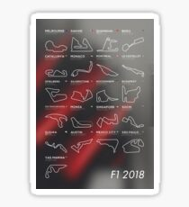 F1 Tracks 2018 Sticker