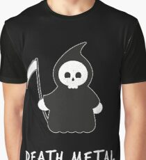 Cute Death Metal Music Reaper Vintage Graphic Graphic T-Shirt