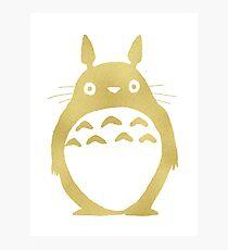 Totoro Gold Photographic Print