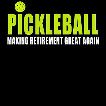 Pickleball Making Retirement Great Again Dark Short T-Shirt by BitterOranges