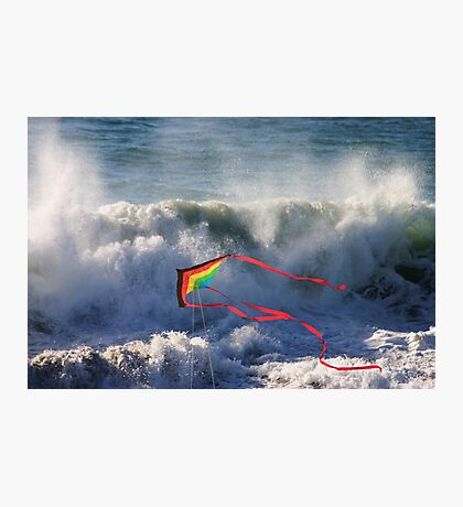 Kite in Surf Photographic Print